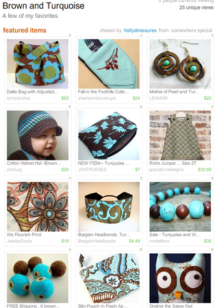 Brown and Turquoise Treasury