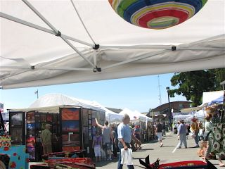 Juan de Fuca Festival view from my booth