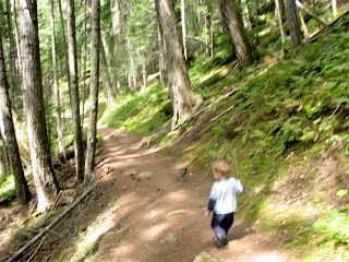 Isaac on Humes Ranch trail