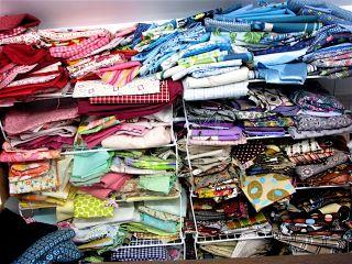 Fabric stash mess!