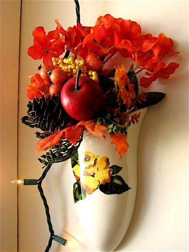 First day of Fall-kitchen sconce