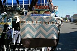 XSBaggage & Co. Cleo Handbag in Village Blue Chevron