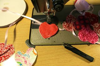 Sewing a Heart Garland