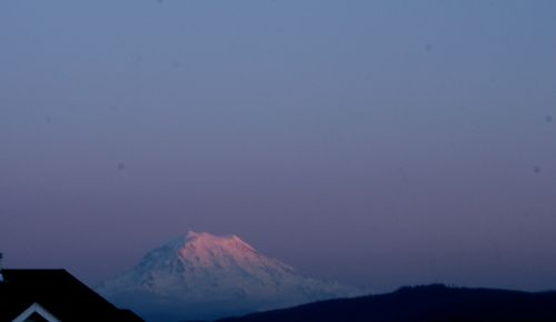 Mt. Rainier at dusk