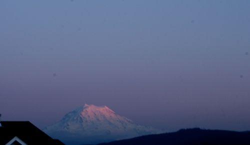 Mt. Rainier at dusk