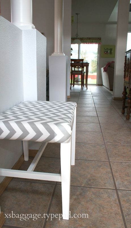 DIY Chevron Stool