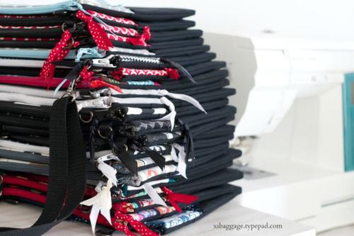 Sewing Room Stack of Handbags